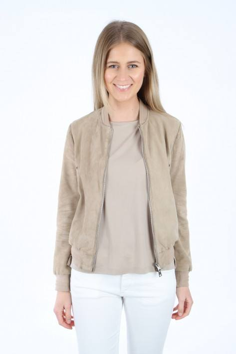 CAP 30039 Bomber Caryy Over Suede - sabbia/beige
