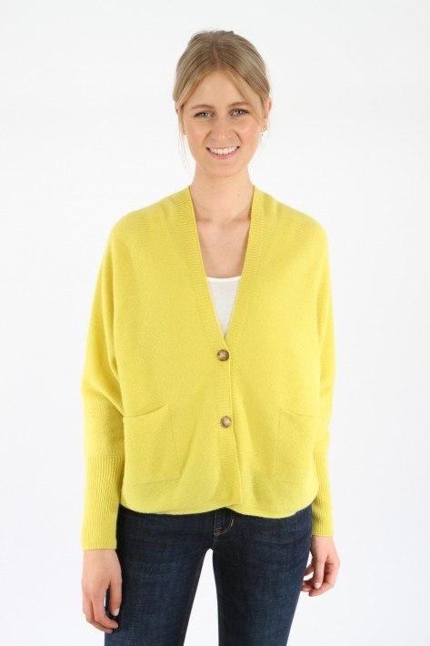 Oui Strickjacke - yellow
