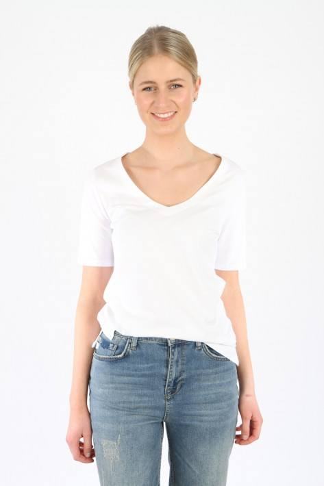 Oui T-Shirt Basic - white