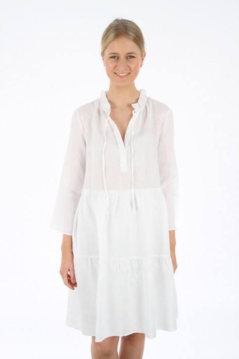 0039 Italy Milly Dress Leinen - white