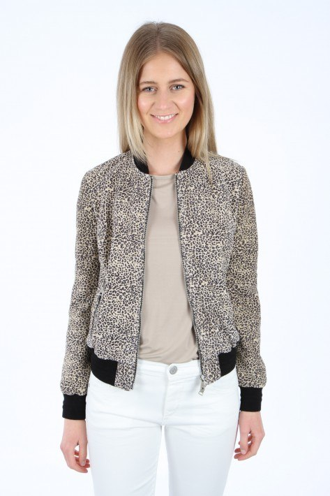 CAP 30039 Bomber Carry Over Suede - leopard