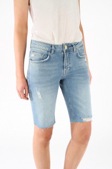 Goldgarn Denim Shorts Augusta - lightblue