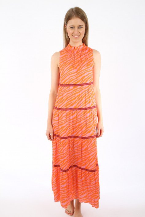 Tonno & Panna Kleid Tamara - orange/pink