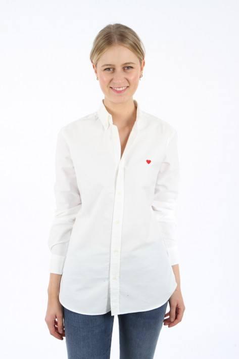 Brosbi Bluse The Icon HEART - white