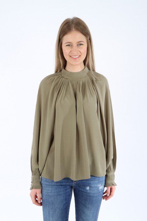 Closed Bluse Braelyn - green umber