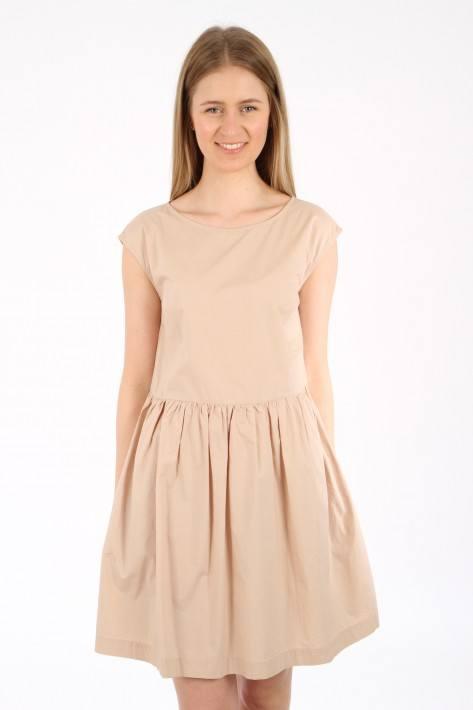 Woolrich Popeline Dress - feather beige