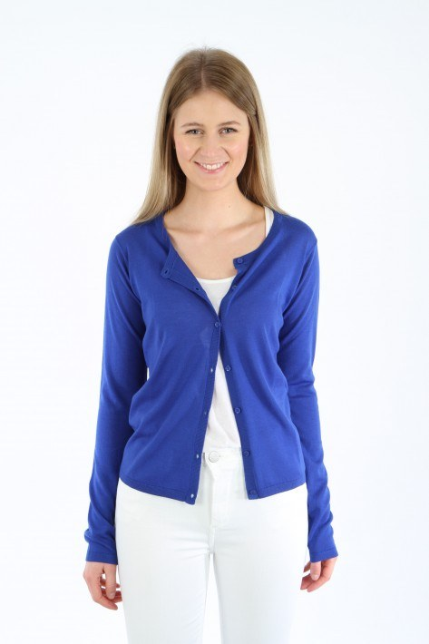 0039 Italy Strickjacke Giulia - royal blue