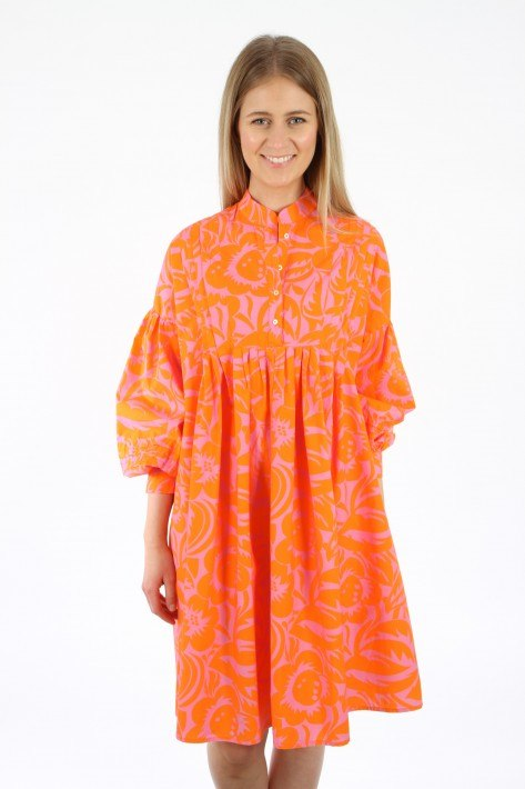 Tonno & Panna Kleid Penny - orange/pink