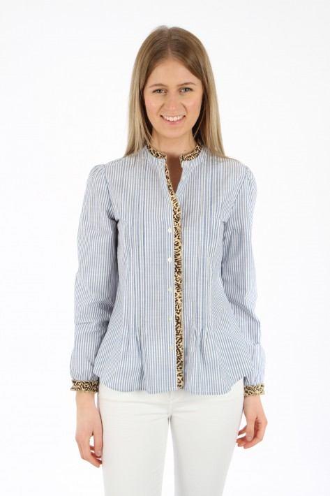 Risy & Jerfs Bluse Bonn - blue white stripe