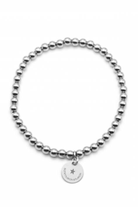 Schmückstück Armband Perlen Sterlingsilber 4 mm - silber