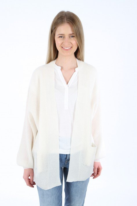 Bloom Open Cardigan with pockets - off white