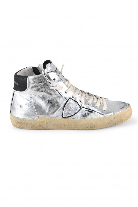 Philippe Model High Top Sneaker - silver