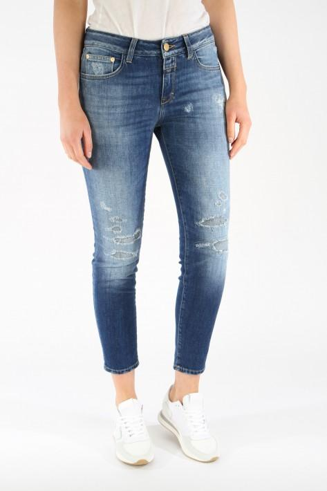 Closed Jeans Baker destroyed - midblue
