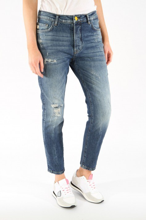 Goldgarn Jeans Augusta I Relaxed fit - vintageblue