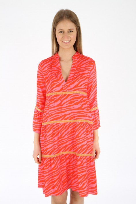 Risy & Jerfs Kleid Galapagos - pink/red