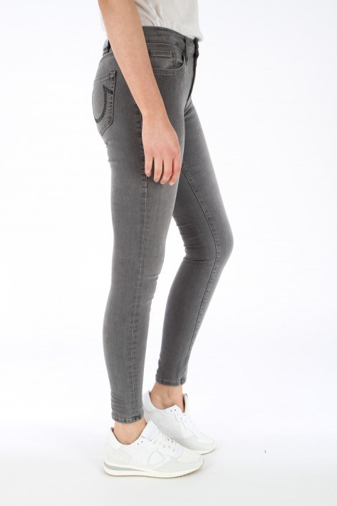 True Religion Jeans Highrise Halle - grey/black