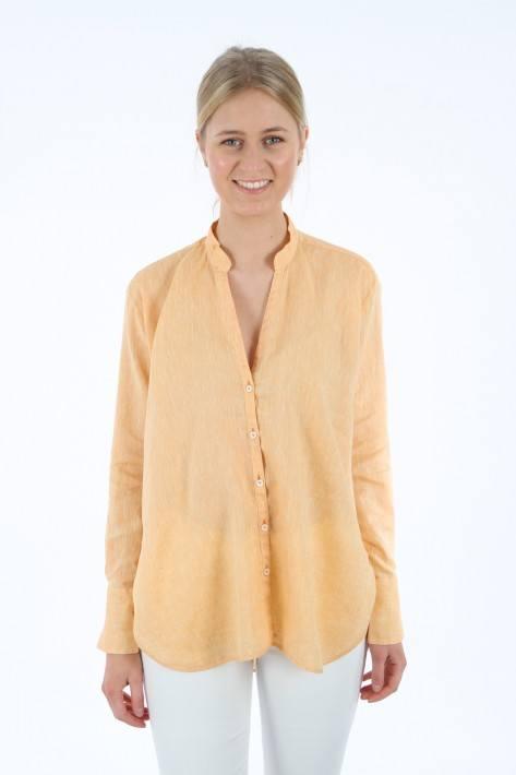 Aglini Leinenbluse Liviana - orange