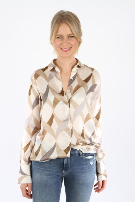 0039 Italy Bluse Odetta - creme/muster
