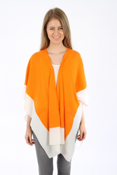 Herzen´s Angelegenheit Cape - orange/offwhite