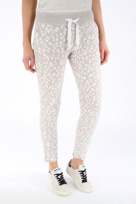 Juvia Fleece Trousers Leopard - beige mel