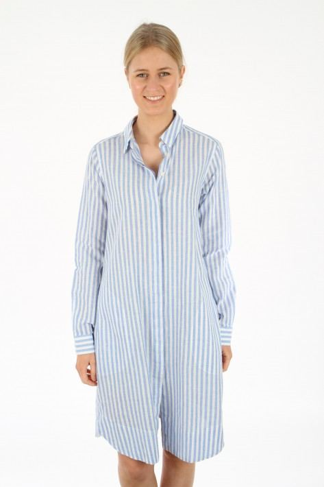 0039 Italy Gracia New Kleid - light blue / white stripes