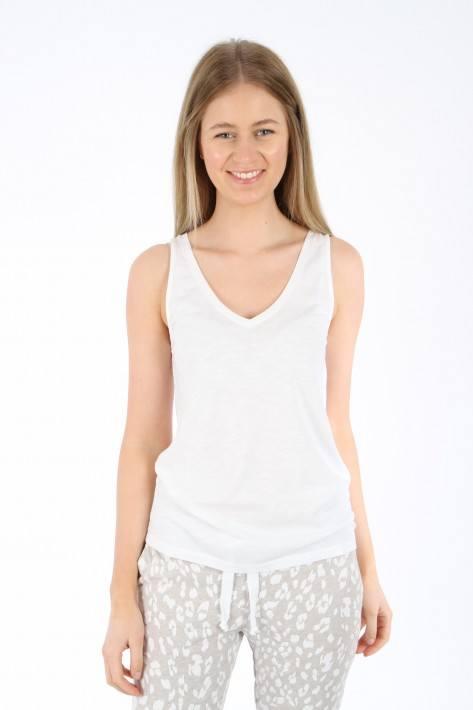 Juvia Slub Top white
