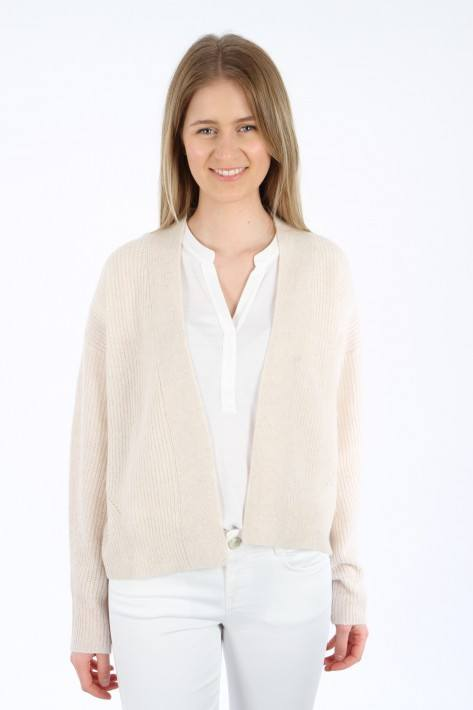 Bloom Cropped Cardigan - light sand