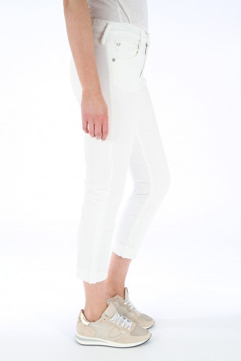 True Religion Jeans Liv Boyfriend - white denim