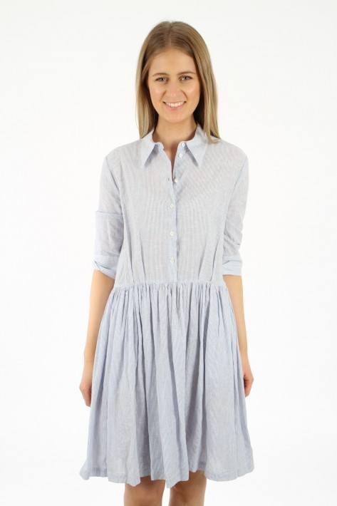 Aglini Streifen-Kleid ABI023 - lightblue/white