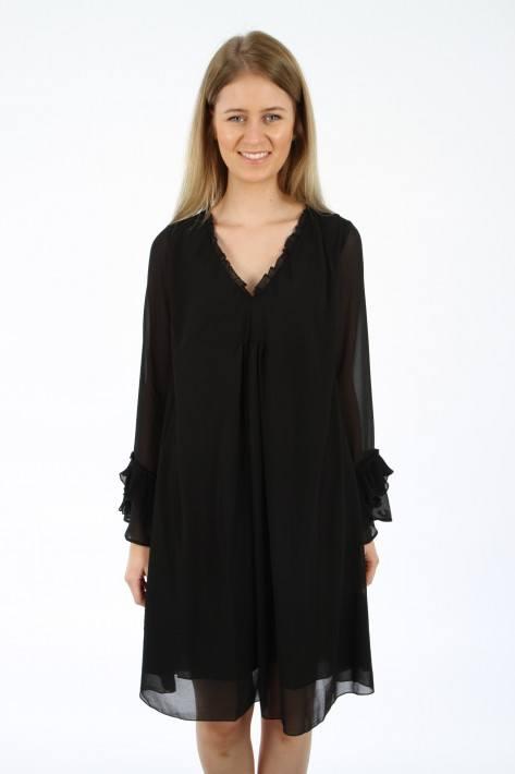 True Religion Mini Dress with Plisse - black