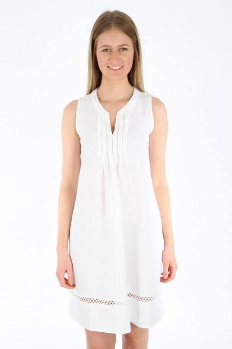 0039 Italy Leinenkleid Nevada - white