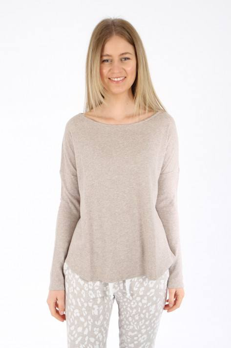 Juvia Cash. Mix Sweater loose fit - beige mel
