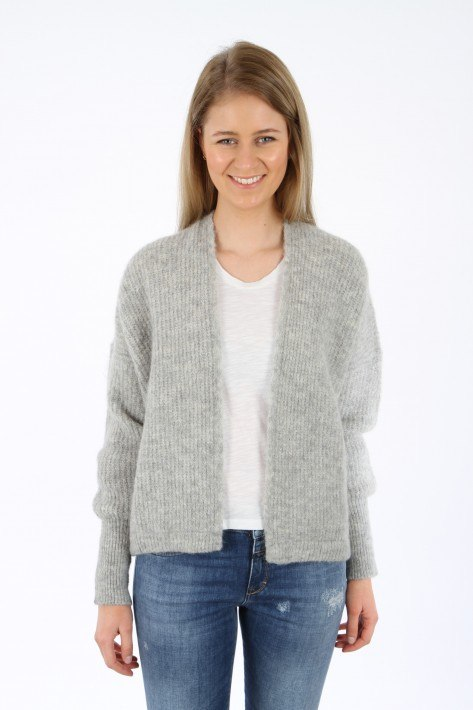 American Vintage Cardigan offen - gris chine