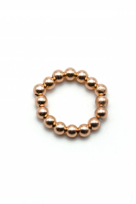 Schmückstück Ring Perlen 4mm Sterlingsilber rosévergoldet