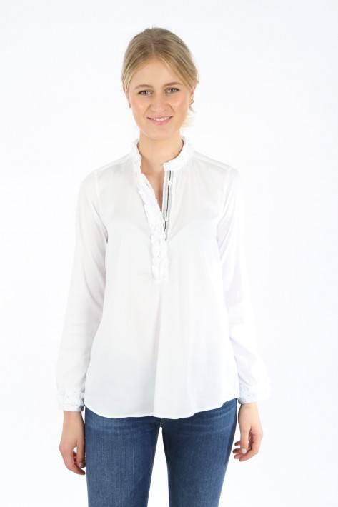 Aglini Bluse Manuela - white