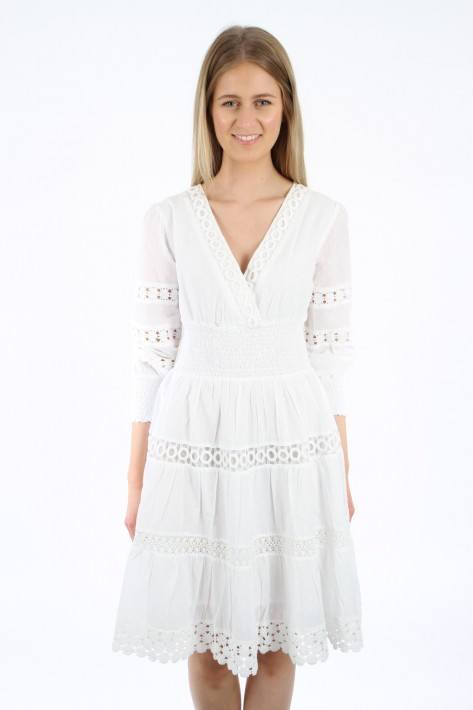 Flower for friends Lace Detail Dress - white