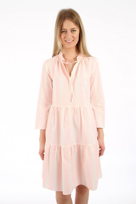 0039 Italy Kleid Milly Dress - offwhite/neon