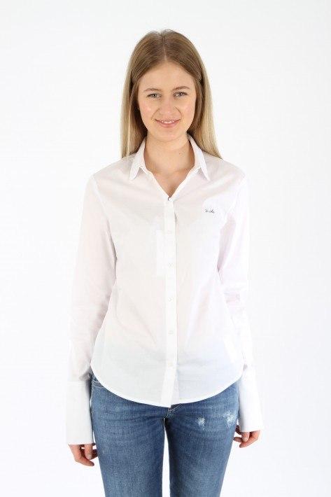Oui Bluse Smile - white