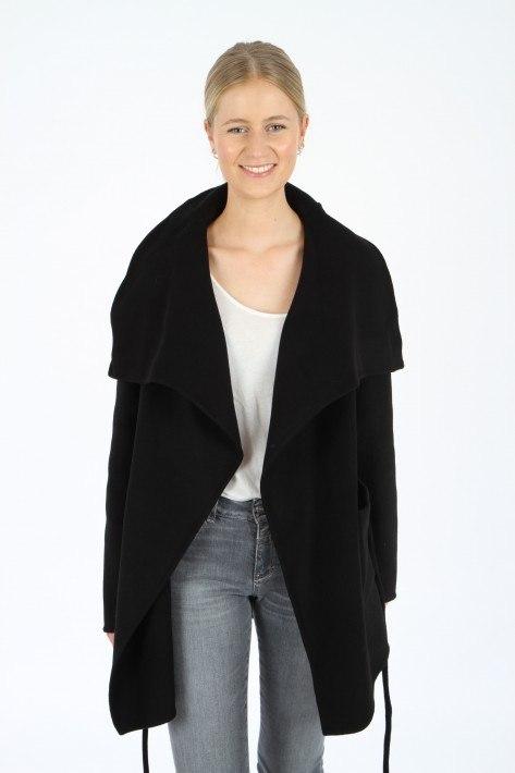 Closed Wrap Coat Elvy - black