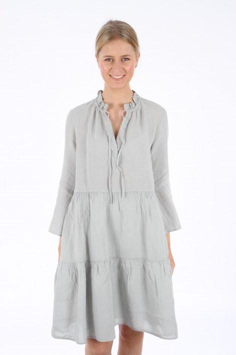 0039 Italy Milly Dress Leinen - light grey