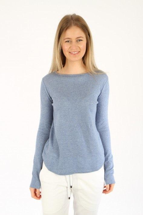 Juvia Cash. Mix Sweater Basic - denim mel