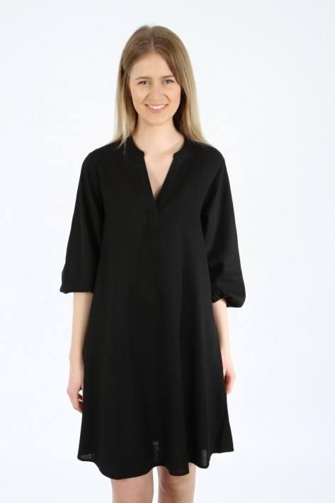 Bloom V-Neck Dress - black