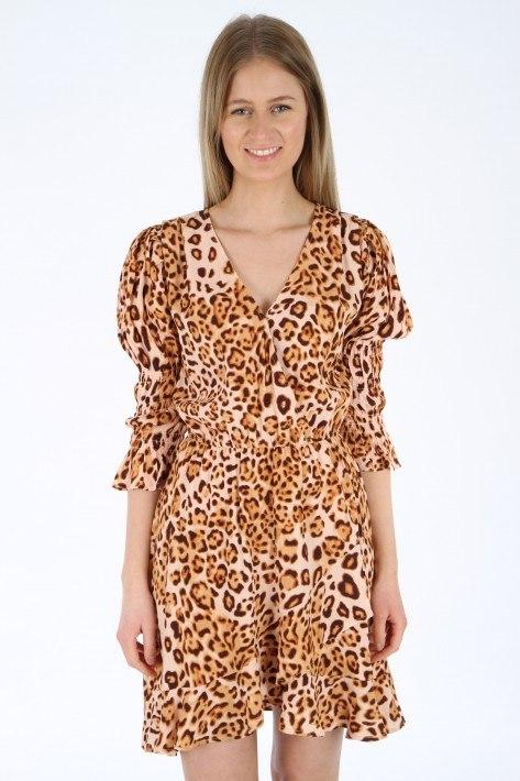 True Religion Wrap Dress Short - tropical leo big