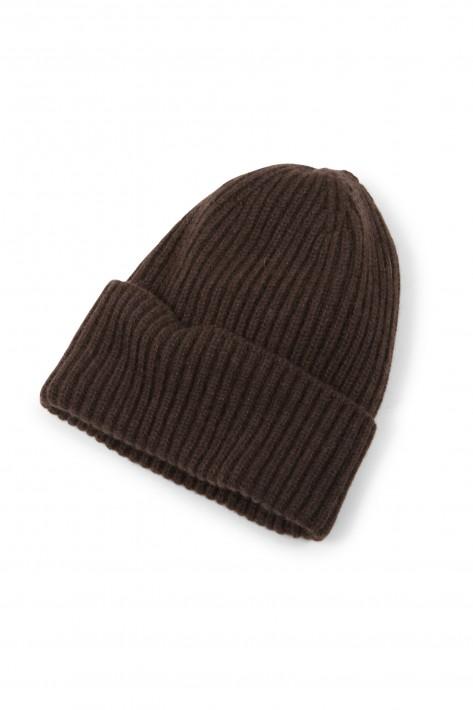 Cashimar Cashmere Mütze ROMA - brown