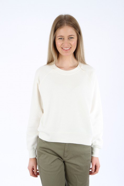 Closed Printed Sweat - ivory