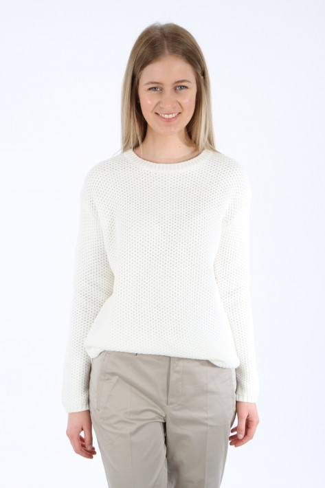 Oui Pulli Wabenmuster - offwhite