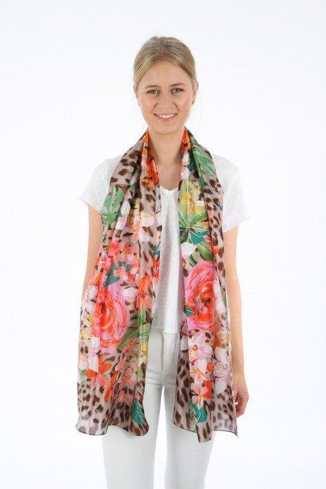 Codello Schal Silk Collection Flowers - multi