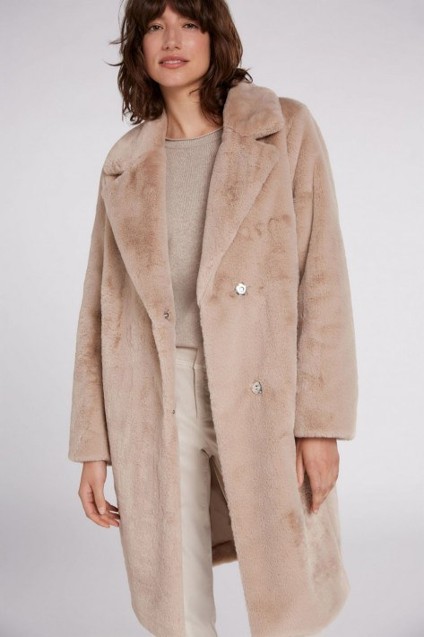Oui Mantel Free Fur - taupe