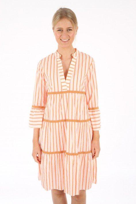 Risy & Jerfs Kleid Galapagos - orange/ pink stripe