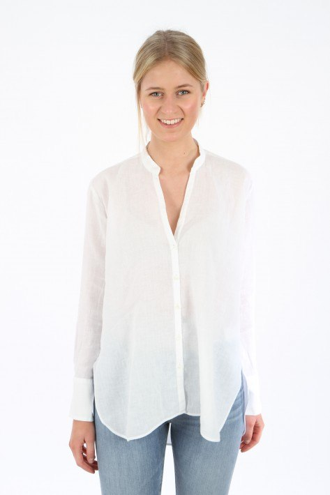 Aglini Leinenbluse Liviana - white